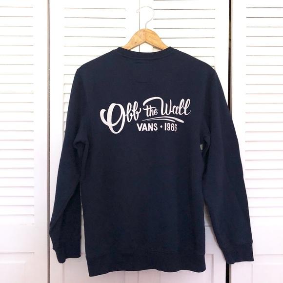 d95310cf958c5c Vans Men s Off the Wall Navy Pullover Sweatshirt. M 5bd1dc996a0bb7bc94121325